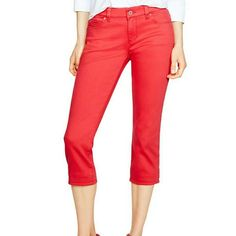 WHBM Red Slim Fit Cropped Jeans Size 0 Brand new WITH tags White House Black Market  Size 0 Bright Red in Color! Slim Fitting Cut Cropped Jean Inseam is 23 inches  Hot color!  Hot style!  Hot price! White House Black Market Jeans