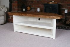 mimiberry creations: How to Easily Build a Rustic Corner TV Stand AND How to make Homemade Liming Wax for a RH Finish