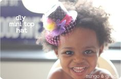 ok has to be the cutest model of the mini top hat so far!  Love this!! DIY MINI TOP HAT