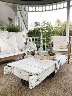 How To Create A Cozy Farmhouse Style Porch