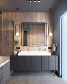Lampen badkamer wit zwart staal hout