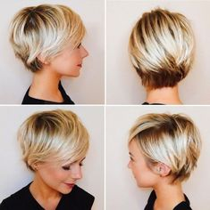Pixie Haircuts with Bangs - 50 Terrific Tapers- Pixie Haircuts with Bangs – 50 Terrific Tapers Bronde Pixie With Platinum Balayage - Stylish Short Haircuts, Short Pixie Haircuts, Haircuts With Bangs, Hairstyles With Bangs, Pixie Bangs, Haircut Short, Undercut Pixie, Hairstyle Ideas, Haircut Styles