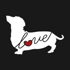 Dachshund (Weiner Dog) Love Window Vinyl Car Sticker Decal for Dog Lovers (Ships Free)