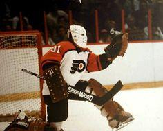 Bernie Parent Makes a Save Photo Flyers Hockey, Hockey Goalie, Hockey Players, Bernie Parent, East Coast Style, Hockey Boards, The Sporting Life, Philadelphia Sports, Goalie Mask