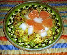 Dovlecel Prajit Cu Pepene Si Grapefruit / Fried Marrow With Melon And Grapefruit https://vegansavor.wordpress.com/2015/06/29/fried-marrow-with-melon-and-grapefruit/ #vegan #marrow #melon #grapefruit #dovlecel #pepene