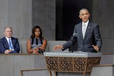 President Barack Obama on Saturday expressed hope that a new national museum showcasing the triumphs and tragedies of the African American experience will help to bring people together as the nation reels from recent racial upheaval.