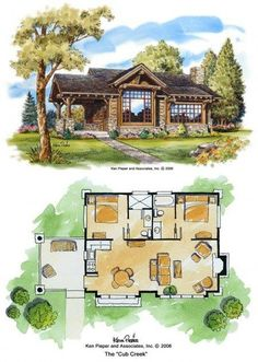 Now this is a great floorplan for a 2 bed cabin. Also Has link to great cabin plans - one bathroom and walk in closet The Plan, How To Plan, Br House, Tiny House Living, Living Room, Small House Plans, House Floor Plans, Small Log Cabin Plans, Log Cabin Floor Plans