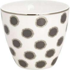 Tasse - Latte cup - Savannah white von Greengate Latte Cups, Savannah Chat, Tableware, White Coffee, Marmalade, Microwave, Coffee Cups, Pens, Flasks