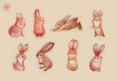 More wabbits to explore some different silhouettes and values, still not quite there yet..but getting closer!