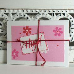 Hugs! Pink Pinwheel Flower Note Cards by ArtBySunfire 2261495 111   artbysunfire - Cards on ArtFire #AFPOUNCE