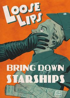 Cliff Chiang Imperial Propaganda posters for the Star Wars Galaxy 5 trading card set