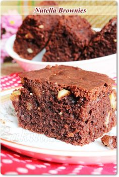Nutella Brownies - No Egg / No Butter Recipes