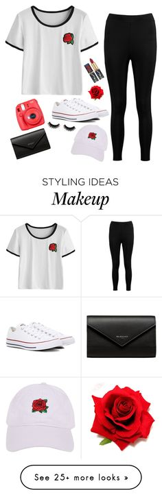 """Falling Roses"" by treelights29 on Polyvore featuring Boohoo, Converse, Armitage Avenue, Fuji and Balenciaga"