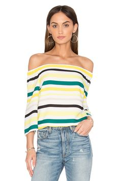 1. STATE Cold Shoulder Striped Top in Citronella  | Fashion | Styles  Shop @ CollectiveStyles.com