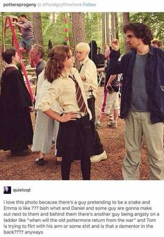 Funny picture of the Harry Potter set Harry Potter Jokes, Harry Potter Pictures, Harry Potter Universal, Harry Potter Characters, Harry Potter World, Harry Potter Fandom, Drarry, Dramione, The Marauders