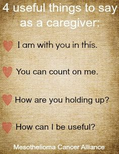 4 Useful Things to Say As a Caregiver #caregiver