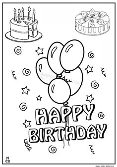 Happy Birthday coloring pages 05
