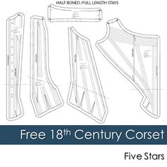 RalphPink Free 18th Century Corset Pattern