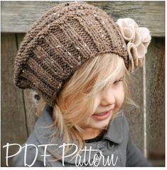 Lilian Beret Knitting pattern by The Velvet Acorn, the perfect children project for this winter! Find this pattern and more inspiration at LoveKnitting. Baby Knitting Patterns, Knitting For Kids, Knitting Projects, Crochet Projects, Crochet Patterns, Bandeau Crochet, Knit Crochet, Crochet Hats, Felt Flower Template