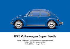 VW Beetle 1973 super Beetle sedan