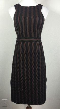 Anthropologie Maeve 'Meridian' MIDI Dress Size Small Shift Vertical Stripe | eBay