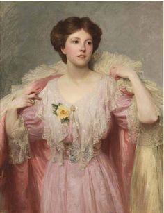"""Ruth Julia Cripps"" (1907) by Sir Frank Dicksee, 1853–1928"