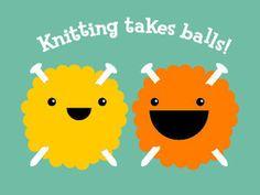 Image of Knitting Takes Balls T-Shirt (Women's)