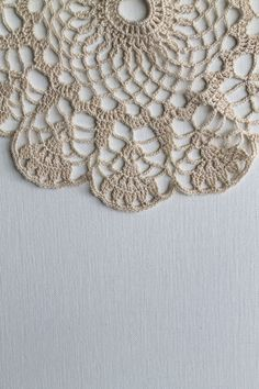 CROCHET DOILY CREAM Lace Handmade Newly Made by creativecarmelina, $14.00