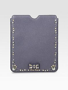 Holiday Gift Guide: Miu Miu Madras Embellished Leather Case For iPad for Her _ Saks.com