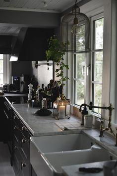 Marmor i köket hos Victoria Skoglund | Lantliv.com