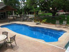Blue Hawaiian Fiberglass Pools and Spas | Freeform