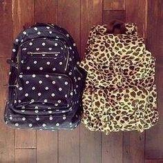 Bag polca and animal print