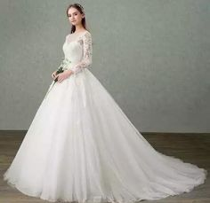 355a53471a8c2 Elegant Tulle Sheer Neck Beading Lace Vestidos De Novia Fairy Backless  A-line Wedding Dresses Full Sleeve Marriage Bridal Gowns