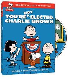 Peanut's - You're Not Elected, Charlie Brown (1972) - Linus thinks that would be a good job for Charlie Brown, but Lucy confirms that Linus would be the better candidate. Opposing him is a student named Russell Anderson. Linus runs for the office with a vigorous and enthusiastic campaign, taking an early lead in the polls.   Unfortunately, he suffers a setback when, during his last address to the student body.