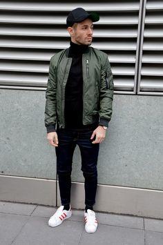 REBEL FASHION STYLE: Green bomber jacket