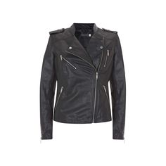 BuyMint Velvet Leather Collarless Jacket, Navy, 10 Online at johnlewis.com