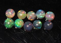 7x7mm Ethiopian welo fire opal Black Calibrated  10 PCS lot AAA+ Opal  stone   Opal for jewelry   Opal for rings  opal collection
