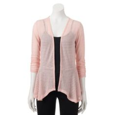 Juniors'+Candie's+Open-Front+Draped+Cardigan