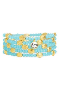 Crystal Collection 'Navajo' Beaded Stretch Bracelets