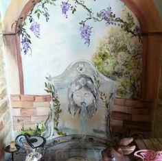 Dipinto su muro nicchia pozzo