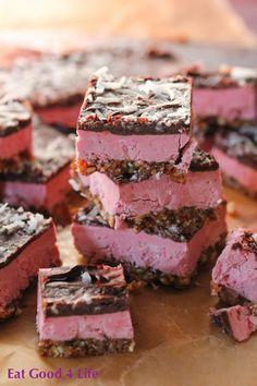 Raspberry cream bars recipe - #vegan #glutenfree