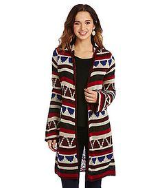69dd0730b6 Copper Key Tribal Geo Duster Cardigan Sweater  Dillards