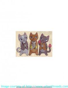 Stickbild Stickemblem  Katze Landtiere