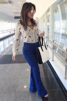 Geisy Arruda mostra look elegante