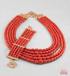 Folk jewellery from the region of Podhale in Poland