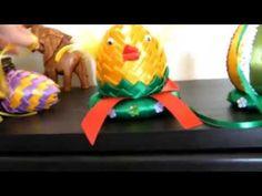 egg hand made Easter, Handmade, Home Decor, Fabric Ribbon, Ribbons, Paper Envelopes, Flowers, Hand Made, Homemade Home Decor