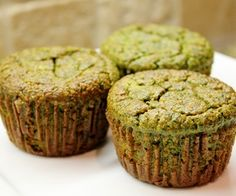 Banana Kale Muffins (gluten free) I think less eggs would work too? I will play around with this recipe