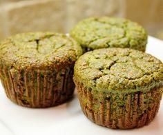 GF - Banana Kale Muffins w/oat flour, brown sugar etc.