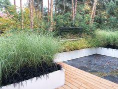 Nowoczesne donice ogrodowe w minimalistycznym ogrodzie