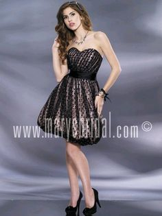 Astra Formal - Kiss Kiss 3787 | Size 6 Black Mary's Bridal, Short Gowns, Strapless Dress, Kiss, Formal Dresses, Black, Fashion, Vestidos, Strapless Gown
